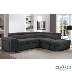 Capri Plus Right Hand Corner Sofa and Ottoman is stunningly well designed, contemporary and amazingly versatile. This sophisticated corner sofa transforms into a luxurious king size bed with ease. A smooth mechanism allows the Capri Plus to convert from corner sofa to bed with the pull of a hidden fabric tab. Adjustable head rests use a streamlined multi-locking mechanism, allowing the head rests to be locked in a choice of positions and make this sofa the ultimate in bespoke comfort. Corner Sofa With Ottoman, Ottoman Sofa Bed, Large Ottoman, Ottoman Furniture, Faux Suede Fabric, Swivel Chair, King Size, Space Saving, Bespoke