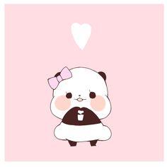 Panda Kawaii, Kawaii Art, Panda Funny, Cute Panda, Panda Wallpapers, Cute Wallpapers, Cute Love Cartoons, Cute Cartoon, Kawaii Drawings