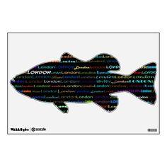 London Text Design I Wall Decal Bass