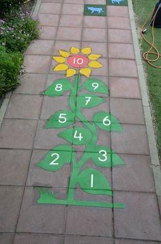 Playground painting ideas - Aluno On Outdoor Classroom, Classroom Decor, Playground Painting, Diy For Kids, Crafts For Kids, Preschool Playground, School Murals, Sidewalk Chalk Art, Kids Play Area