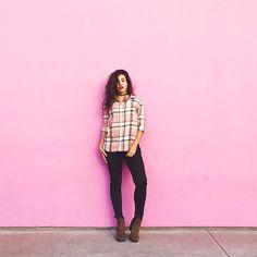 Qualquer parede colorida é motivo de fotos aqui em LA! #VisitCalifornia