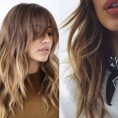 Hair Question - What's the best way to achieve the hair texture on the left if my hair doesn't have much consistent wave to it? THANKS!!