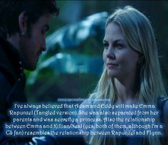 Pity they are gonna show us the rapunzel story. I am excited, but would've loved Emma as Rapunzel and Hook as Flynn