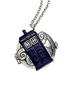 """<div>Even though you may not know where in time you are, you'll always know which way is north when you're wearing this compass necklace from <i>Doctor Who</i>. The silver tone chain necklace features a silver tone compass with a blue TARDIS on front and a blue and teal compass face and hand.</div><div><ul><li style=""""list-style-position: inside !important; list-style-type: disc !important"""">Metal</li&g..."""