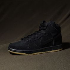 """Nike SB Dunk High Pro """"Black/Gum"""" // Available now at Select Undefeated Chapter Stores and Undefeated.com"""