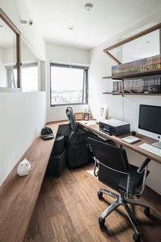 Swan Lake House 50 Minimalist Workspace Ideas That Make Your Room Look Cool Home Design, Home Office Design, Workspace Ideas, Home Office Setup, Office Style, Micro Apartment, Small Home Offices, Room Setup, Minimalist Home