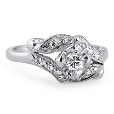14K White Gold The Zaria Ring from Brilliant Earth