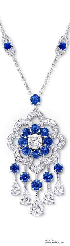 GRAFF Sapphire & Diamond Rosette Tassel Pendant
