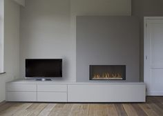 Moderne schouwen M001 Room, Living Room With Fireplace, Bedroom Design, Home Decor, Fireplace Shelves, Modern Fireplace, Lounge Room Design, Home And Living, Living Room Tv