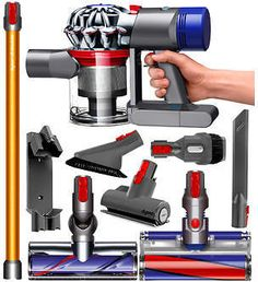 dyson dyson v8 absolute cordless hepa vacuum cleaner fluffy soft roller and direct drive cleaner - Hepa Vacuum