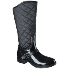 Women's Merona® Zelma Rain Boot - Black, just bought these. They are adorable with skinny jeans and a chunky sweater