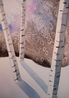 Ah, the ever-popular Birch Trees project!  Art teachers, staff, students and parents LOVE this lesson. It always has a high success rat...