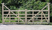 Oxford Ornamental Wood Double Driveway Gate - Hoover Fence Co.