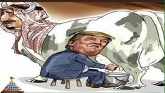 Mizahi Karikatürlerle Trump Suudi İneğini Sağıyor