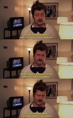 This discourse on education. | 23 Times Ron Swanson Was Inarguably Right About The World