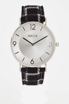 Breda with black plaid strap