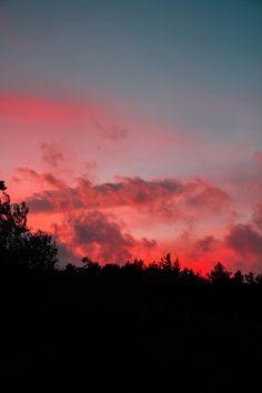 landscape mountains nature sunset vertical