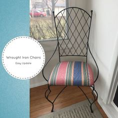 Wrought Iron Chairs Easy Update|Designers Sweet Spot|www.designerssweetspot.com