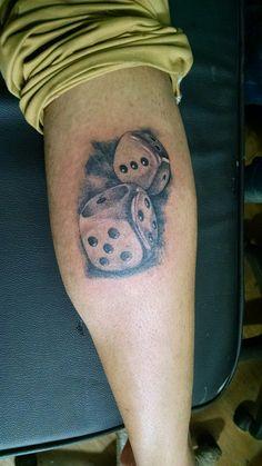 Dice tattoo design ##Dice##tattoo##design##angel##tattoo##studio##indore