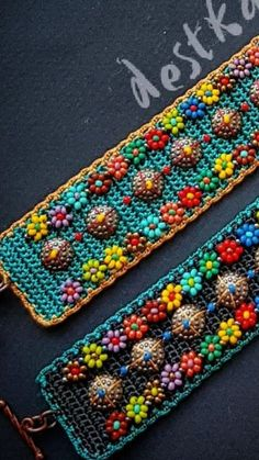 Button Hole Stitch, Textiles, Handcrafted Jewelry, Handmade, Buttonholes, Diy Jewelry, Daisy, Beads, Knitting