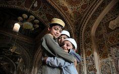 Eid al-Fitr begins: Pakistani Muslim children greet each other at a mosque in Peshawar Muslim Pictures, Islamic Pictures, Alhamdulillah, Hadith, Eid Festival, Cute Muslim Couples, Anime Muslim, Eid Al Fitr, Quran Quotes Love