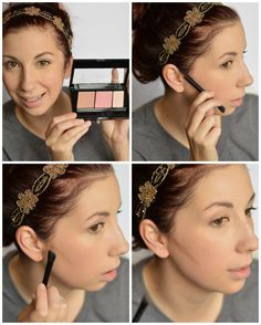How to Contour using the new Maybelline Master Contour Palette. A step by step guide to teach you how easy it is to add a contour to your face! // Life with Rosie