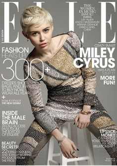 Miley Cyrus Elle Magazine May 2014