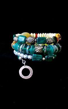 CHUNKY BOHO Bracelet    Memory  Bracelet by TheJoyMoosCollection, $110.00