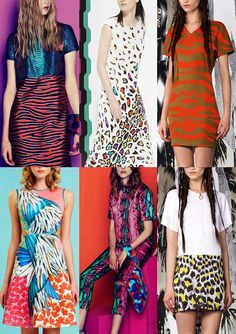 Bold Colour Use – Skin Mixes – Creative Collages – Optical Skin Effects – Digital Feather Prints – Simplified Multicolour Patterning – Dissected Animal Skins – Animal and Floral Mixes