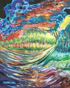 BEACH Ocean Wave Original Art PAINTING DAN BYL Modern Contemporary large 4x5 ft #Modern Beach Canvas Paintings, Abstract Canvas, Wall Canvas, Modern Muscle Cars, Car Painting, Large Art, Ocean Waves, Beach Babe, Modern Contemporary