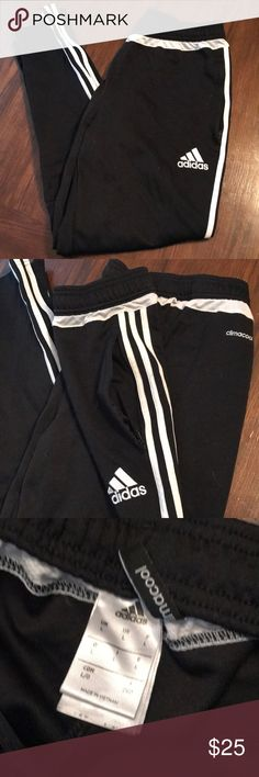 Adidas sweatpants In great condition, zip pockets, white band goes around torso. adidas Pants Sweatpants & Joggers