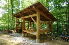 Outdoor Kitchen - Timber Frame Pavilion @ Clear Creek
