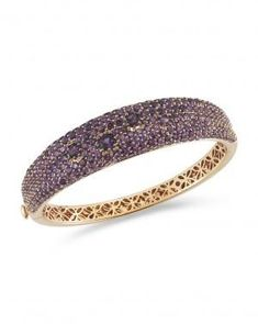 Roberto COIN - Fantasia Amethyst Bangle. •$ 9,900.00 18K Rose Gold Bangle with Pavé Amethyst Approx. 14mm wide. Approx. 56x47mm