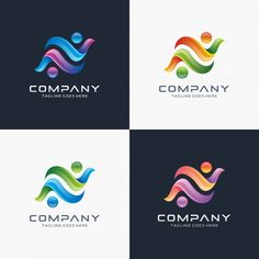 Abstract letter N logo design for your company.