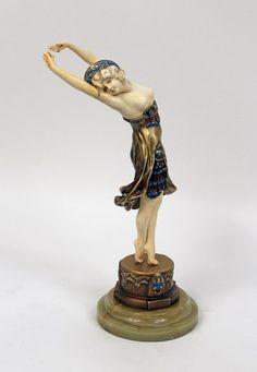 Art Deco dancing,carved ivory,ca 1930