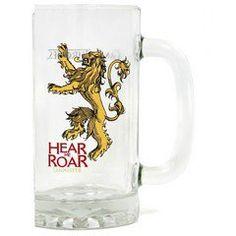 "Game Of Thrones - Lannister ""Hear me Roar"" beer glass"