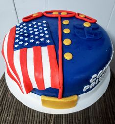 This cake always reminds me of the men and women who risk their lives so that we can have the freedom to chase our dreams. Bakery, Freedom, Sweets, Dreams, Desserts, Food, Women, Liberty, Tailgate Desserts