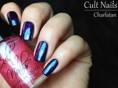 Cult Nails ~ Charlatan, one coat over black.