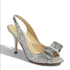 """Kate Spade """"charm"""" sling back shoe Worn once to a wedding. Beautiful shoe. Very comfortable. Size 8 but I'm a true 7.5. Has a 3 1/2 inch heel. Made in Italy. kate spade Shoes Heels"""