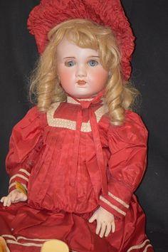 Antique Doll Bisque S.F.B.J. Paris French HUGE Dressed