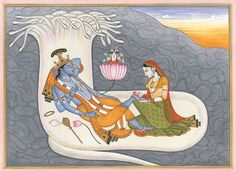 The Birth of Brahma. Via Exotic India