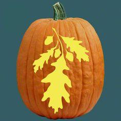 Image gallery leaf pumpkin for Big pumpkin carving patterns