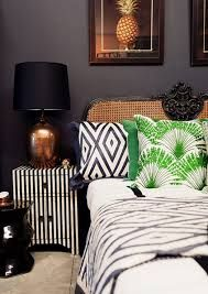 Image result for navy blue cream and copper bedroom