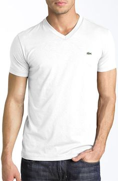 Lacoste Pima Cotton Jersey V-Neck T-Shirt available at #Nordstrom