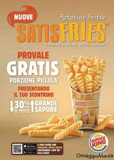 Patatine Satisfries gratis da Burger King - http://www.omaggiomania.com/omaggi-con-acquisto/patatine-satisfries-gratis-da-burger-king/