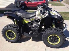 Can Am Renegade 1000 ATV Exhaust HMF Racing racing