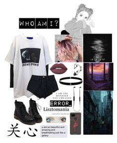 """Tell me who am I"" by minjoothebear ❤ liked on Polyvore featuring American Eagle Outfitters, Lime Crime, Lynn Ban, Google, Sudio and GUSTA"