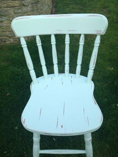 "Hand Painted Shabby Chic Chair in ""Duck Egg""  - Love this color"