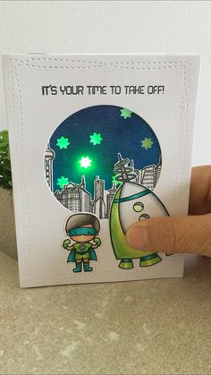 Card Boy Male Space Rocketi Dream Of Colour Tina Farrow Light Up Cards