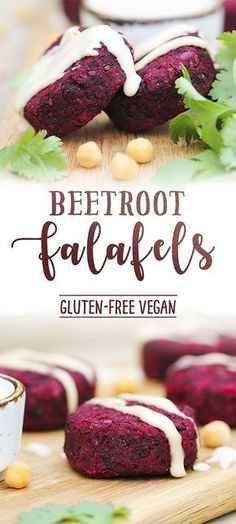 Beetroot falafel recipe. So pretty to look at and delicious to eat. #vegan #healthy